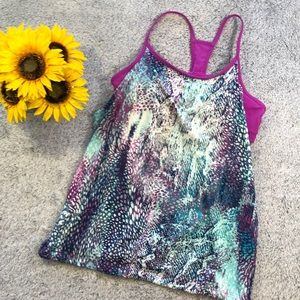 Fabletics tank top with sports bra